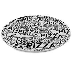 Prato em Cerâmica Pizza Solid 32cm Branco E Preto - Casa Etna