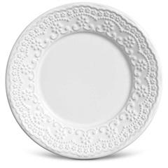Prato em Cerâmica Sobremesa Madeleine 20cm Branco - Casa Etna