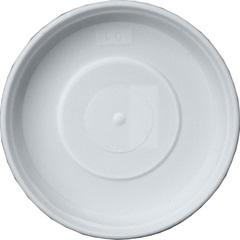 Prato em Plástico para Vaso 12cm Branco - West Garden
