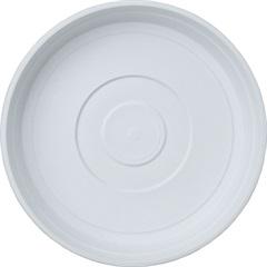 Prato em Plástico para Vaso 18cm Branco - West Garden