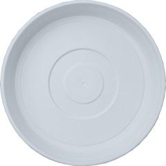 Prato em Plástico para Vaso 20cm Branco - West Garden