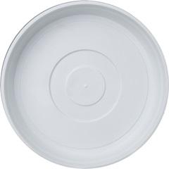 Prato em Plástico para Vaso 22cm Branco - West Garden