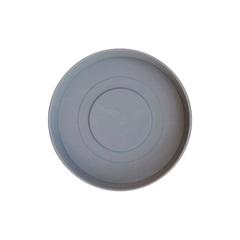 Prato em Plástico para Vaso Veneza 12 Cm Cinza - West Garden