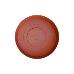 Prato em Plástico para Vaso Veneza 12 Cm Terracota - West Garden