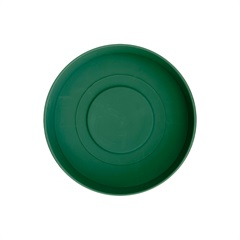 Prato em Plástico para Vaso Veneza 12 Cm Verde Militar - West Garden