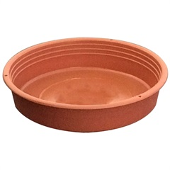 Prato em Polipropileno Redondo para Vaso 9cm Marrom - Desli