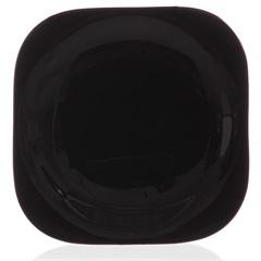 Prato em Vidro Sobremesa Carine 19cm Preto - Casa Etna