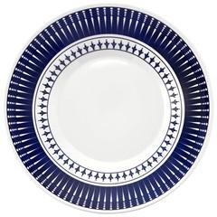 Prato Fundo Biona Colb Branco E Azul 22cm  - Oxford