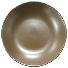 Prato Fundo em Cerâmica 20,5cm Marrom - Importado