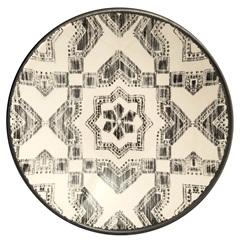 Prato Fundo em Cerâmica Aquarelle 21cm Boho Black - Copa & Cia