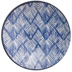 Prato Fundo em Cerâmica Aquarelle 21cm Boho Blue - Copa & Cia