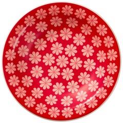 Prato Fundo em Cerâmica Daily Floreal Renda 23cm Vermelho - Oxford