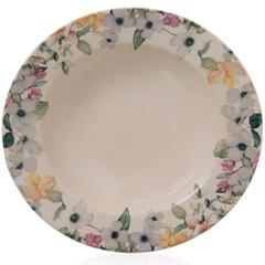 Prato Fundo em Cerâmica Floreale 21cm Colorido - Casa Etna