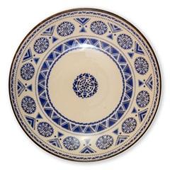 Prato Fundo em Cerâmica Navajo 22cm Azul - Casa Etna