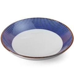 Prato Fundo em Cerâmica Target 22cm Azul - Casa Etna