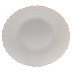 Prato Fundo em Vidro Opalino Prima 23cm Branco - Casa Etna