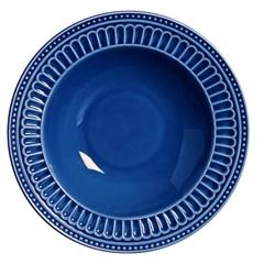 Prato Fundo Poppy 25,5cm Azul - Scalla
