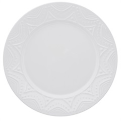 Prato Raso 26 Cm White Ny02-7600 - Oxford