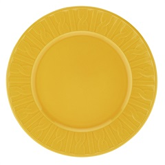 Prato Raso em Cerâmica 26cm Amarelo  - Casanova