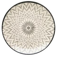 Prato Raso em Cerâmica Aquarelle 27cm Boho Black - Copa & Cia