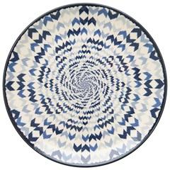 Prato Raso em Cerâmica Aquarelle 27cm Boho Blue - Copa & Cia