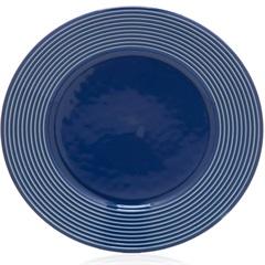 Prato Raso em Cerâmica Argos 26cm Azul - Casa Etna