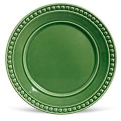 Prato Raso em Cerâmica Atenas 26cm Verde Sálvia - Porto Brasil Cerâmica