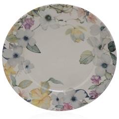 Prato Raso em Cerâmica Floreale 26cm Colorido - Casa Etna