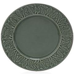 Prato Raso em Cerâmica Leaves 26cm Verde - Casa Etna