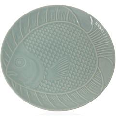 Prato Raso em Cerâmica Ocean 27cm Verde - Casa Etna