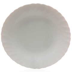 Prato Raso em Vidro Opalino Prima 26cm Branco - Casa Etna