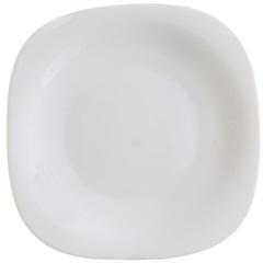 Prato Sobremesa em Vidro Opalino Carine 19cm Branco - Casa Etna