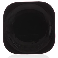 Prato Sobremesa em Vidro Opalino Carine 19cm Preto - Casa Etna