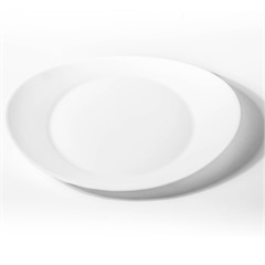Prato Sobremesa em Vidro Prometeo 22cm Branco - Casa Etna