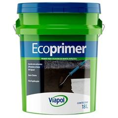 Primer para Manta Asfáltica Ecoprimer Marrom 18 Litros - Viapol