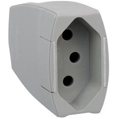 Prolongador 2p+T 10a Cinza - Pial Legrand
