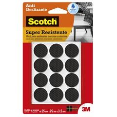 Protetor Anti Risco Redondo Preto Médio - Scotch