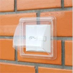 Protetor de Interruptor Dryplug Duplo Transparente - WDB