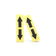 Protetor de para-Choque Autoadesivo 30x10cm com 2 Peças Amarelo E Preto - Dura Plus