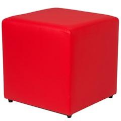 Pufe Quadrado Vip 43cm Vermelho - Casa Etna