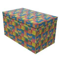 Puff Baú Desmontável em Mdf Blocks 72x36cm - Puff Prime