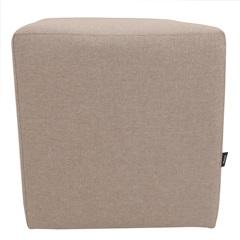 Puff Decorativo Quadrado 42x35cm Bege - Raya Estofados