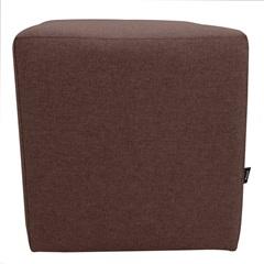 Puff Decorativo Quadrado 42x35cm Marrom - Raya Estofados