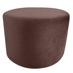 Puff Decorativo Redondo 42x50cm Marrom - Raya Estofados