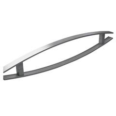Puxador em Alumínio Escovado Dubai 80cm Cinza - Brimak
