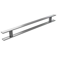 Puxador em Alumínio Escovado Milão 40cm Cinza - Brimak