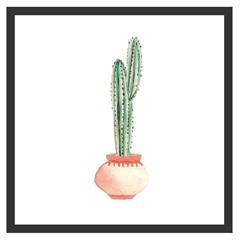 Quadro com Vidro Cactus I 30x30cm Preto - Kapos