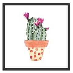 Quadro com Vidro Cactus Ii 30x30cm Preto - Kapos