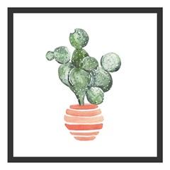 Quadro com Vidro Cactus Iii 30x30cm Preto - Kapos