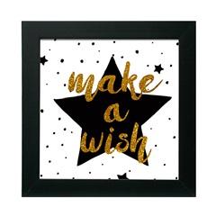 Quadro com Vidro Make a Wish 30x30cm - Kapos